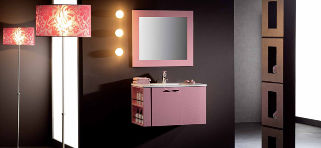 mueble en rosa