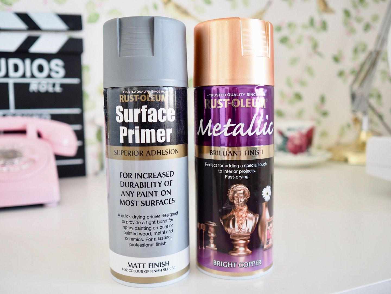 Rustoleum primer and copper spray paint