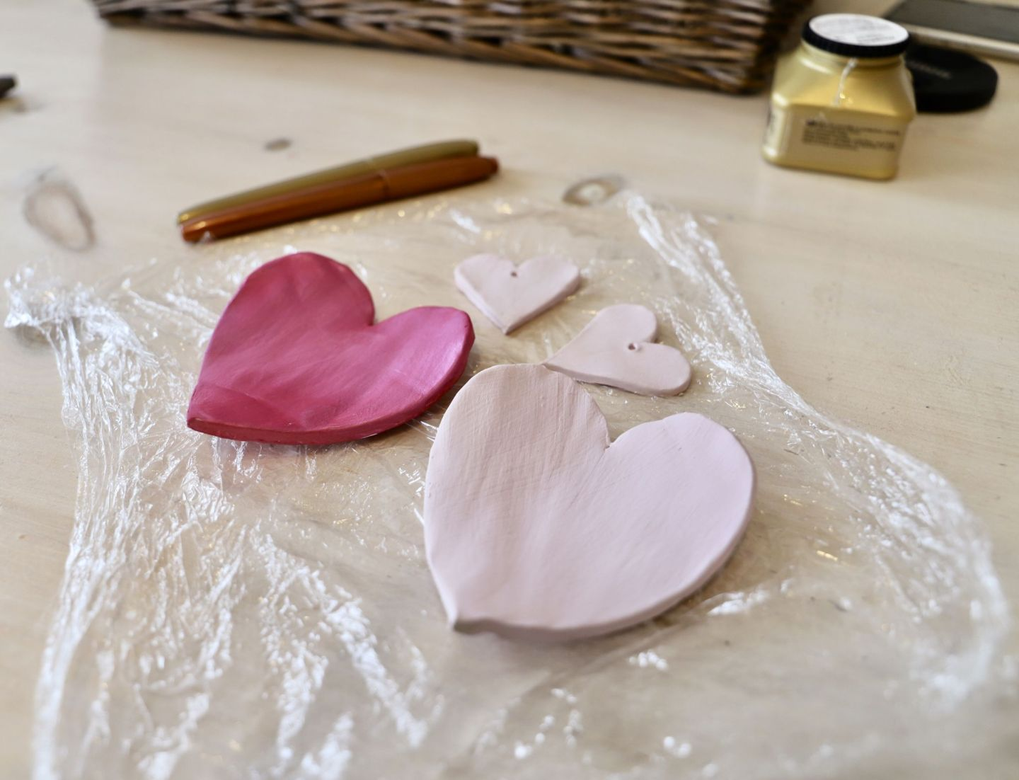 Valentines day gift DIY, love heart trinket dishes
