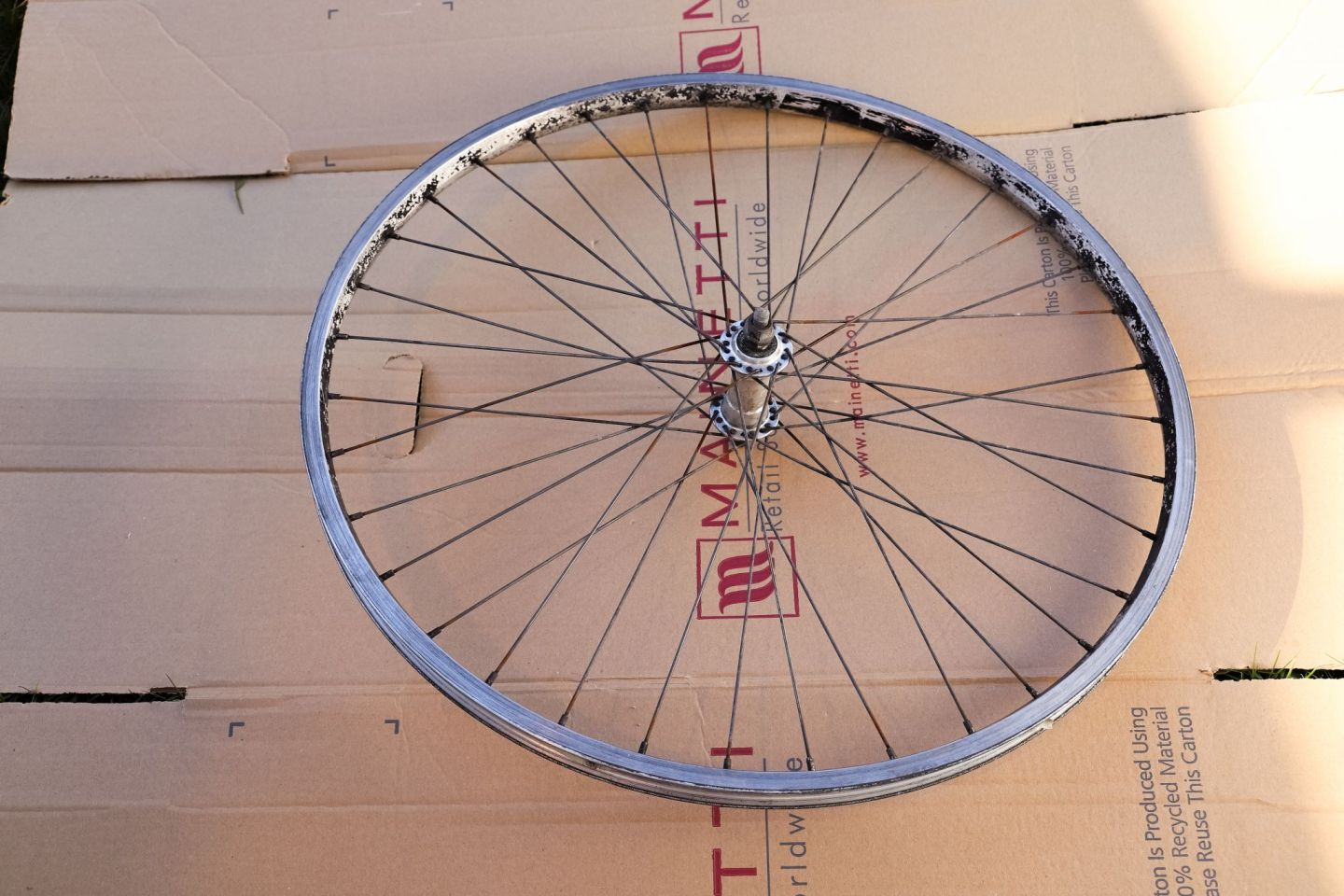Recyled bike wheel
