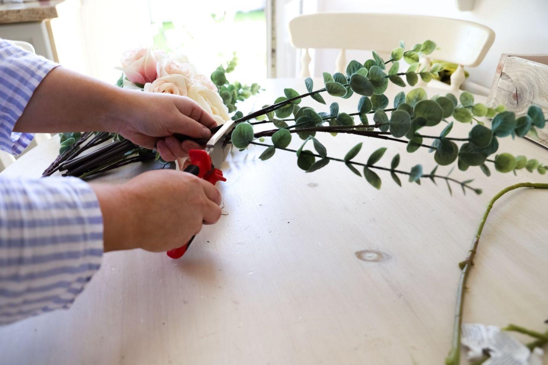 Faux flowers DIY