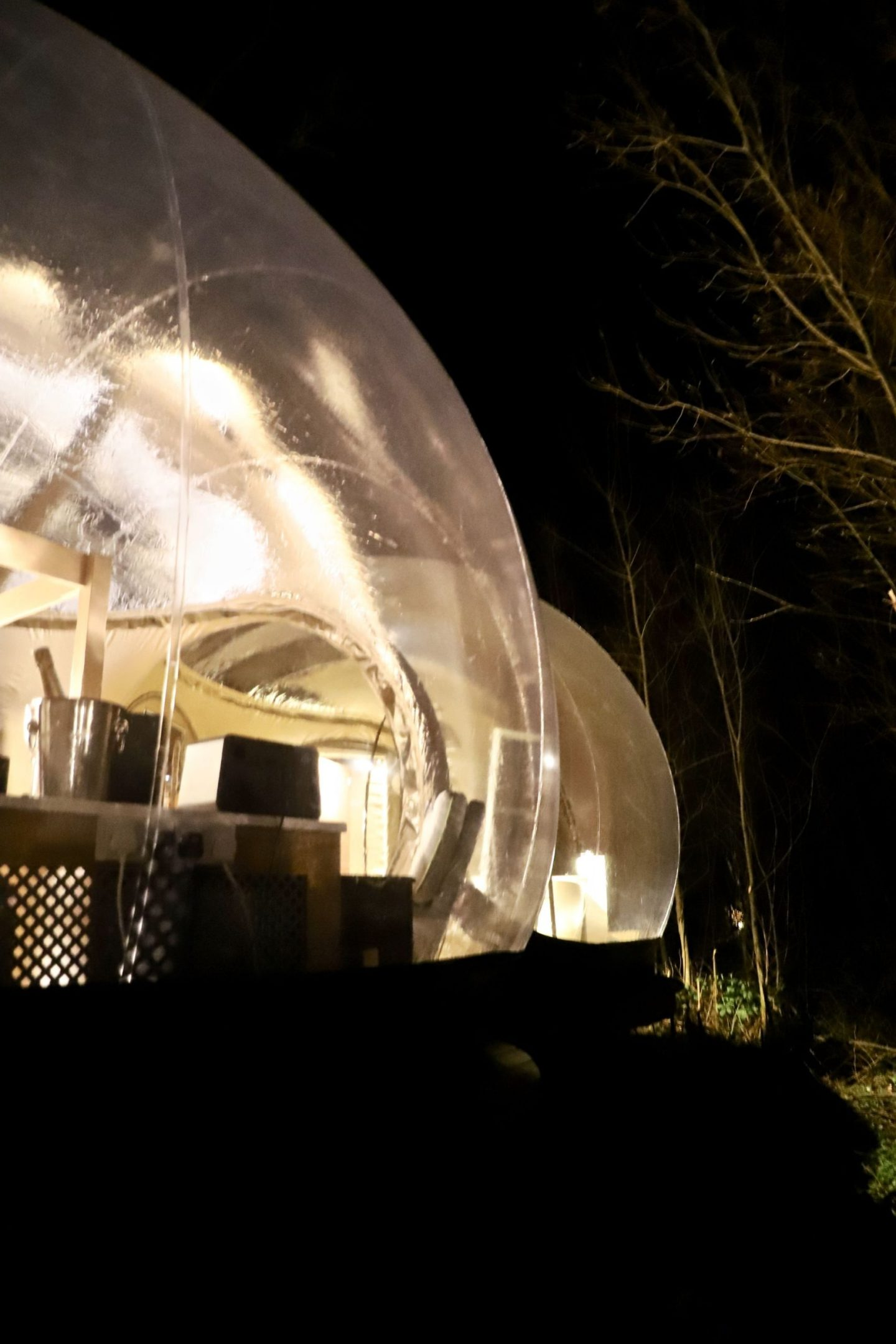 Stating in the bubble dome in Finn Lough, Nothern Ireland