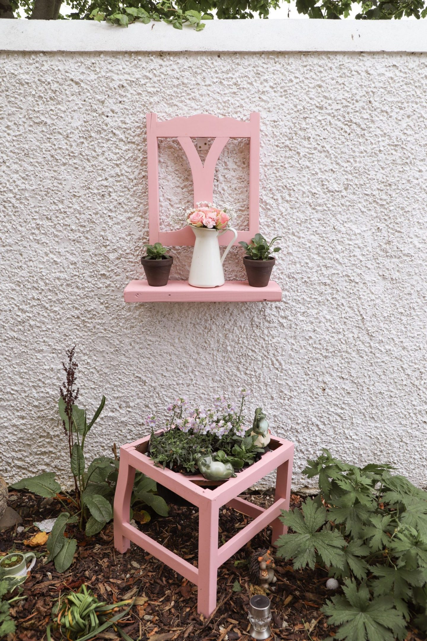 Turn a chair into a flower pot