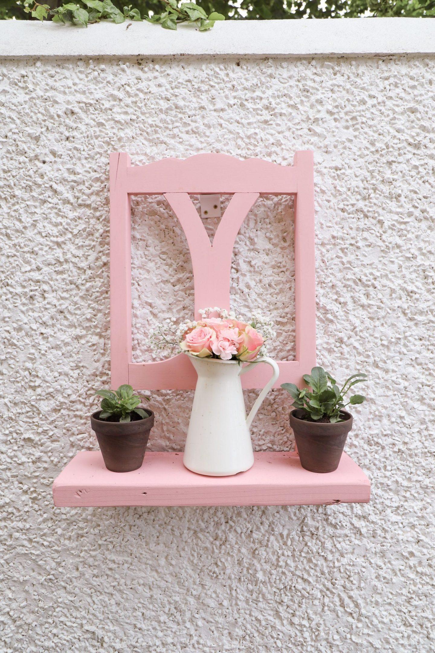 DIY shelf made from chair