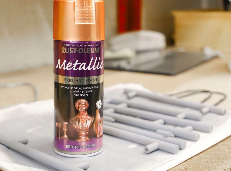 Rustoleum bright copper spray paint