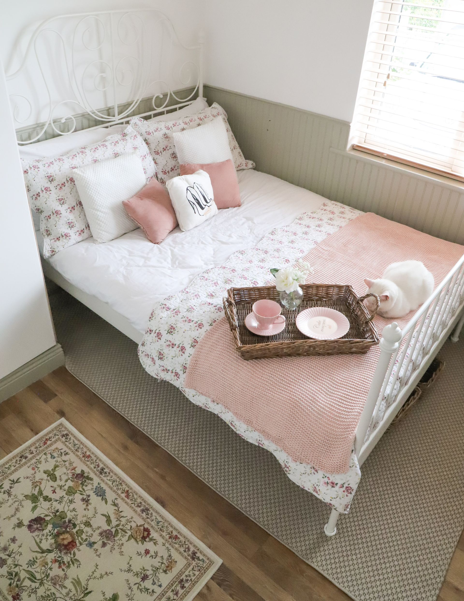 Small Bedroom Makeover Ikea Leirvik Dainty Dress Diaries
