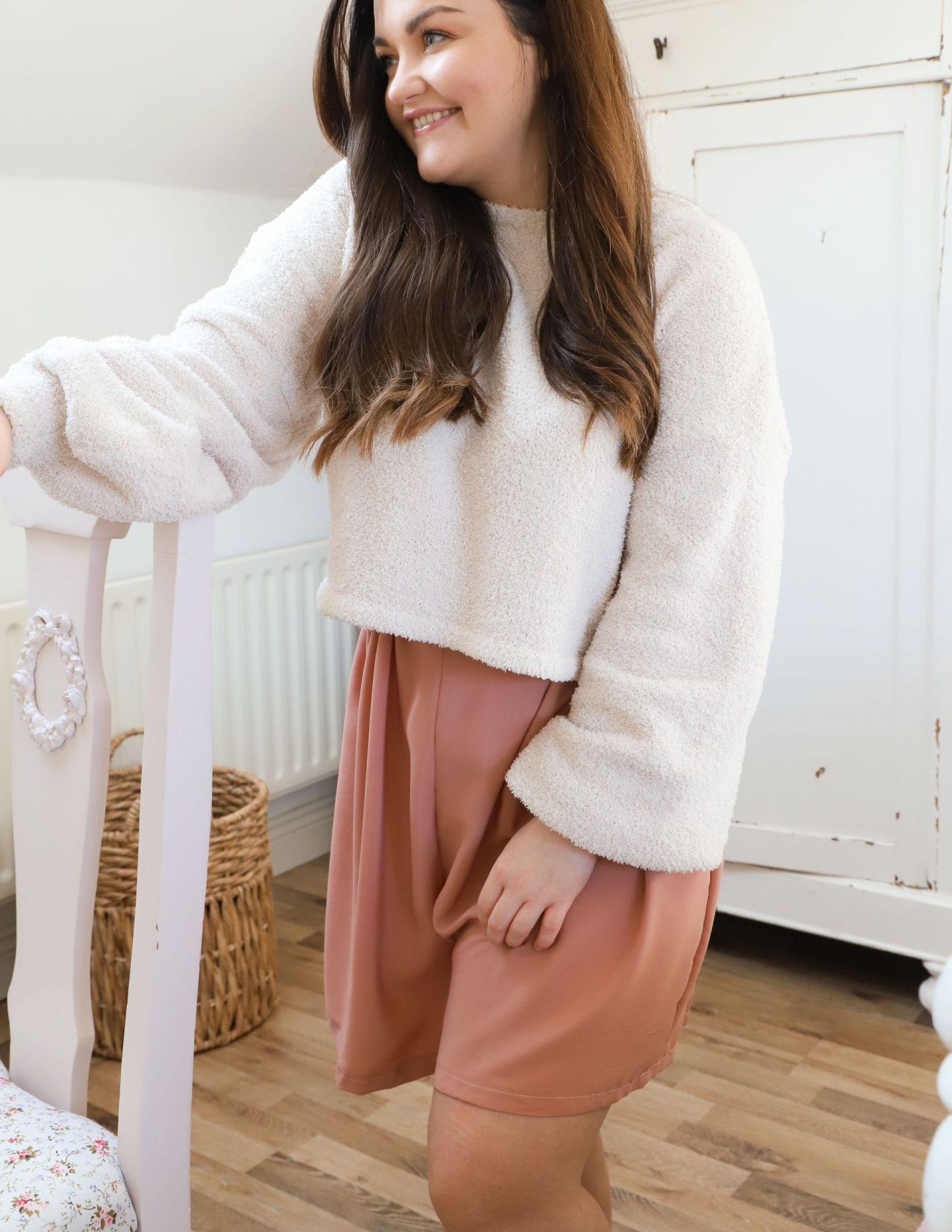 DIY High Waist Lounge Shorts