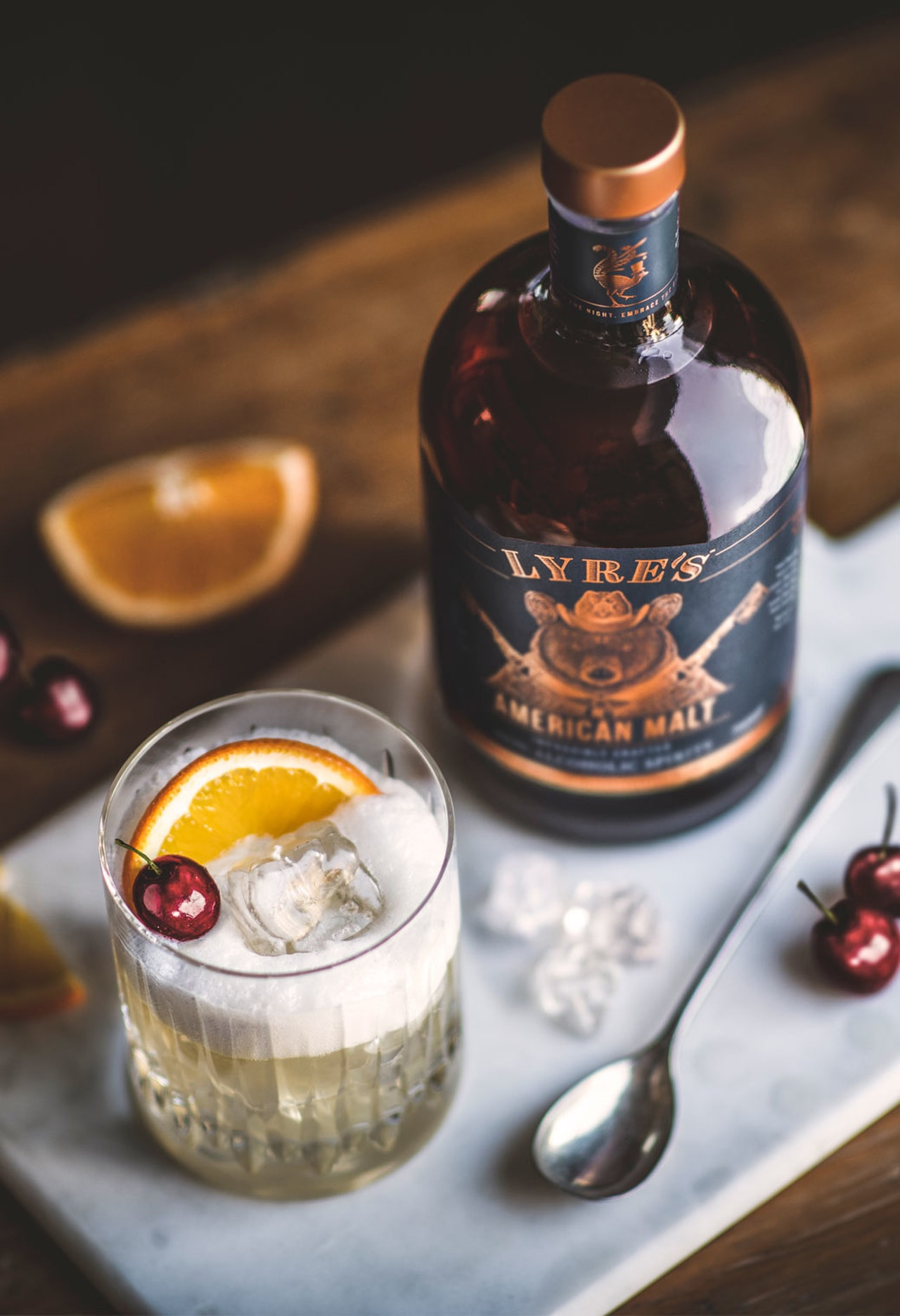 Lyres's Alcohol-free whiskey sour