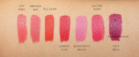 Charlotte Tilbury Hot Lips Swatches Brights The Beauty Look Book - Maquillaje Para el Verano, ¿Qué Comprar?
