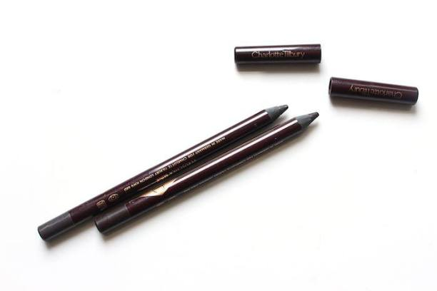 Charlotte Tilbury Rock Kohl Iconic Liquid Eyeliner Pencil Barbarella Brown and Veruschka Mink Review - Maquillaje de Día
