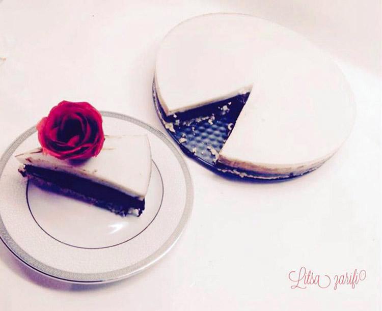 Τούρτα με μους σοκολάτας και ζελέ καρύδας