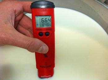 Μετράω το pH στα γαλακτοκομικά