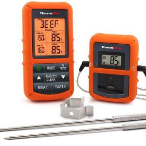 Ασύρματο (για αποστάσεις έως 100μ.), ψηφιακό θερμόμετρο με διπλούς καθετήρες (probes) - ThermoPro TP20