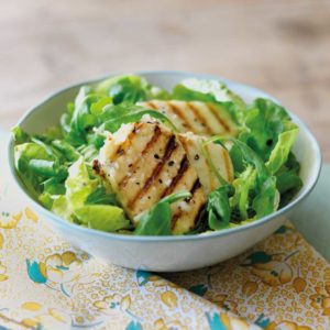 Griddled Halloumi with Wild Rocket