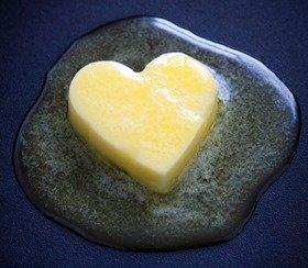 butter heart melting