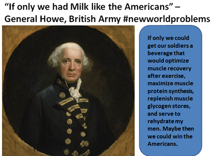 Gen howe needs milk to survive