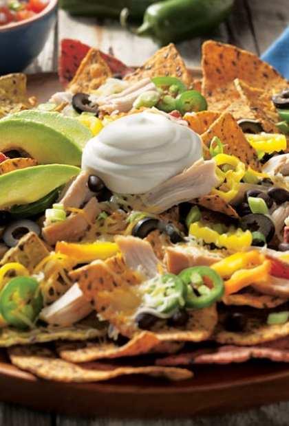 chicken nachos with sour cream