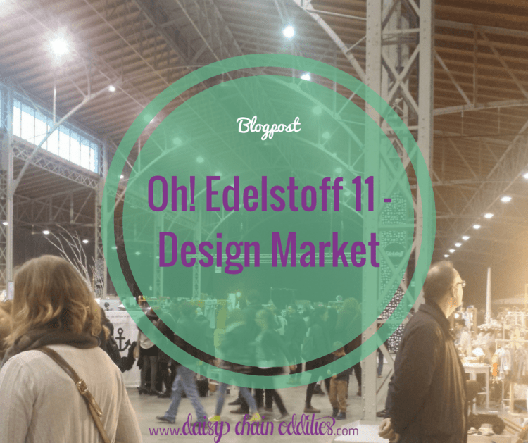 "people on a design market with text overlay ""Blogpost Oh! Edelstoff 11 - Design Market"