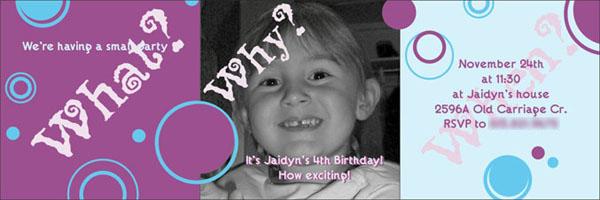 Birthday Bubbles - Party invite