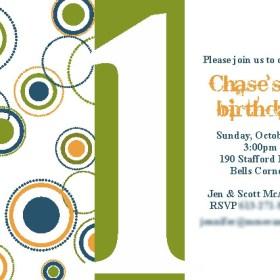 Birthday Party - Circles invite