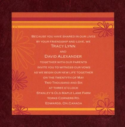 Orange Blossoms invite 2