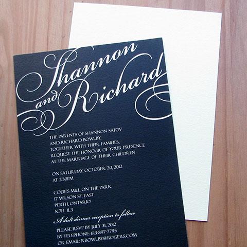 Buttercream Invite and envelope