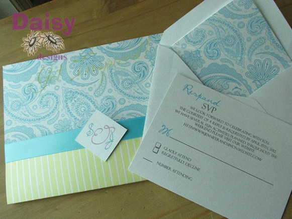 Paisley Pocket invitation Package