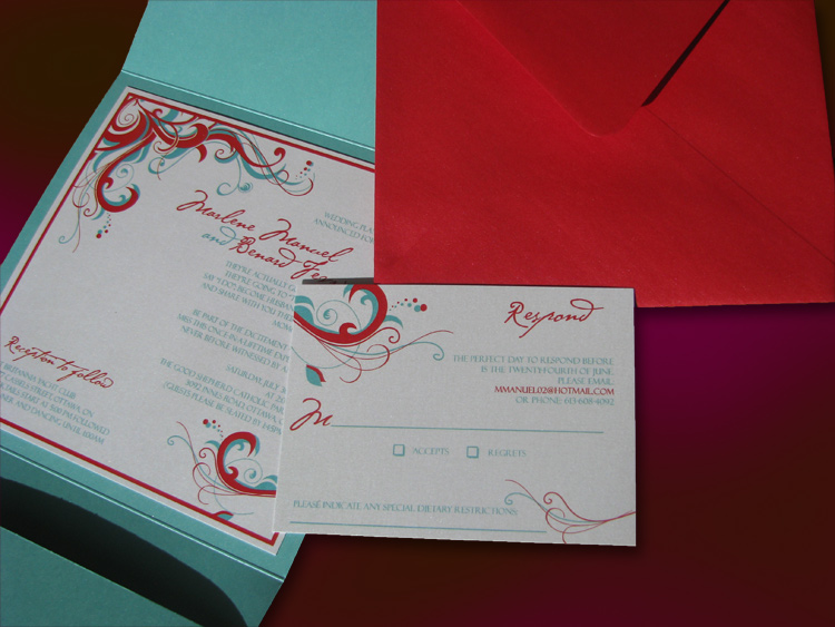 Sea Life invite and rsvp and envelope