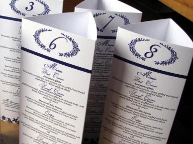 purple royale tri-fold menu