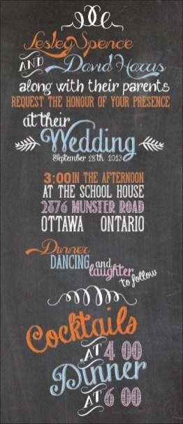 Chalkboard 4x9 invite