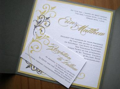 Blonde Granite Invite