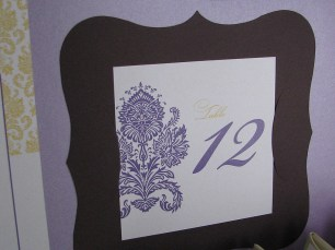 Classic Framed Table Number