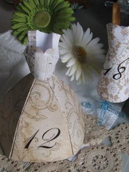 Paper Dress Table Numbers