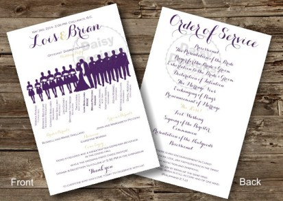 Tiffany Lace Purple Program
