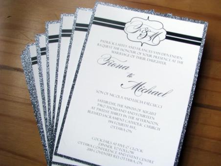 Sparkling Platinum invites