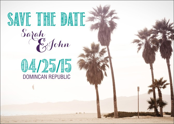 Palm Tree Save the Date