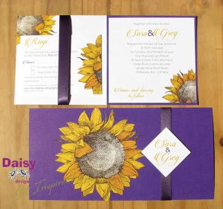 Sara's Sunflower invitation suite