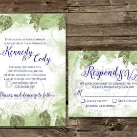 Woodland Wonder invite and rsvp