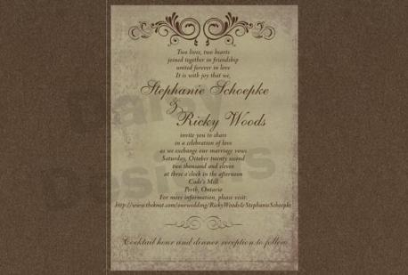 Antique Gold invite