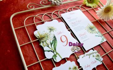 Double Daisy table number