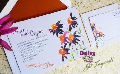 Saffron Daisy invite