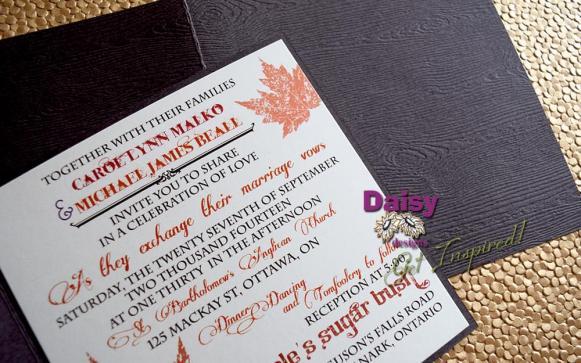 Woodgrain Maple invite