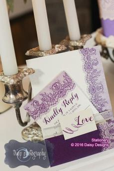 majestic purple lace rsvp and bellyband