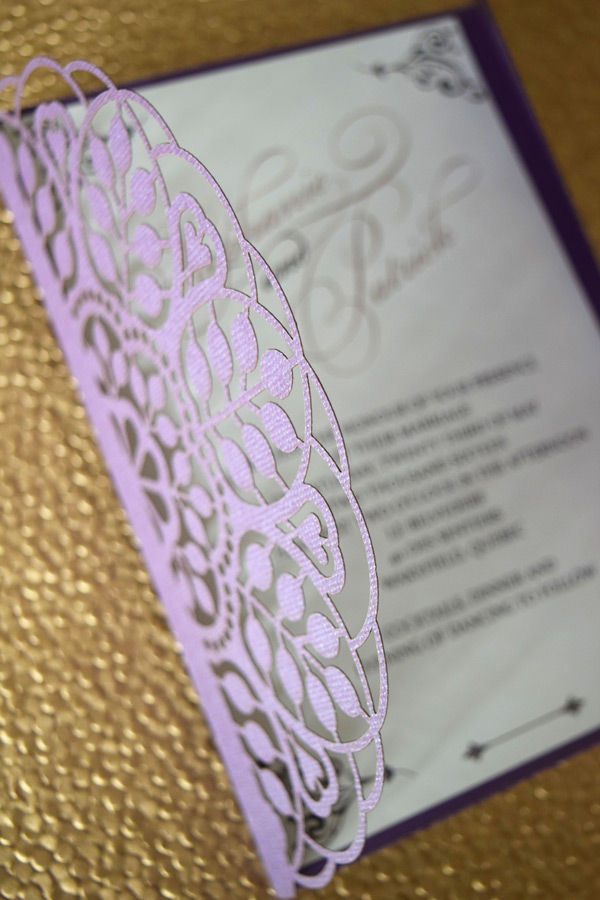 Laser-Cut Purple