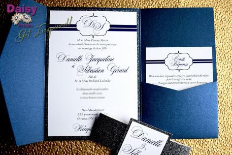 Platinum Glitter suite with belly band