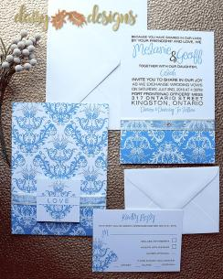 Turquiose Royale invitation set