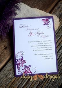 Simply Purple layered invite