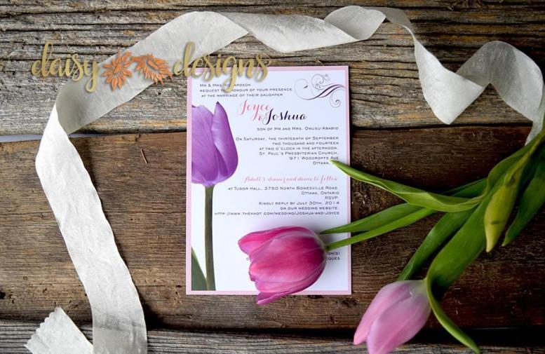 Purple Tulip invite
