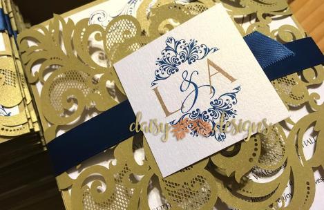 Elegant Gold laser-cut details