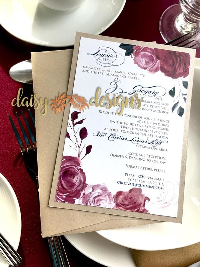 Romantic Blossoms on place setting